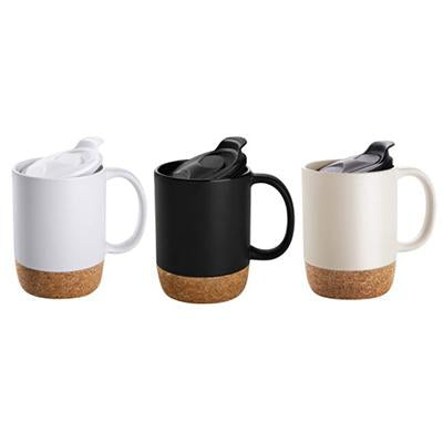 Insulated Splash-Proof Ceramic Coffee Mug with Cork Base | Executive Corporate Gifts Singapore