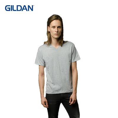 Gildan Cotton Adult V-Neck T-Shirt - abrandz
