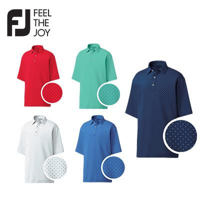 Footjoy Diamond Print Lisle Polo T-Shirt