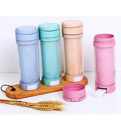 Eco Friendly Wheat Bottle with Phone Holder | Executive Corporate Gifts Singapore