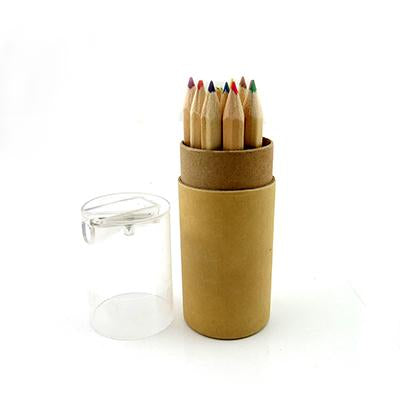 Eco Friendly Color Pencil Set with Sharpener | Executive Corporate Gifts Singapore