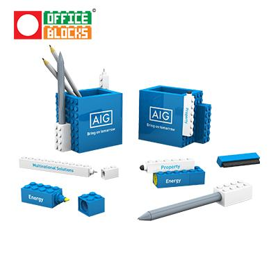 Office Blocks 6 in 1 Pen Pot Set | Executive Corporate Gifts Singapore