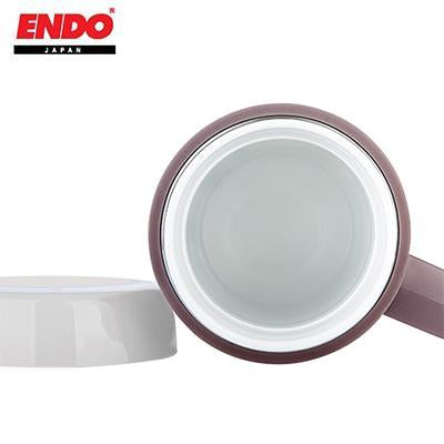 ENDO 400ML Double Stainless Steel Mug With Fine Porcelain Interior