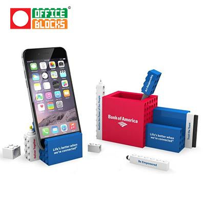 Office Blocks 7 in 1 Pen Pot and Phone Stand Set | Executive Door Gifts