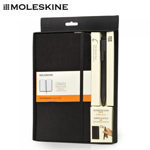 MOLESKINE A5 Notebook with Roller Pen Set | Executive Door Gifts