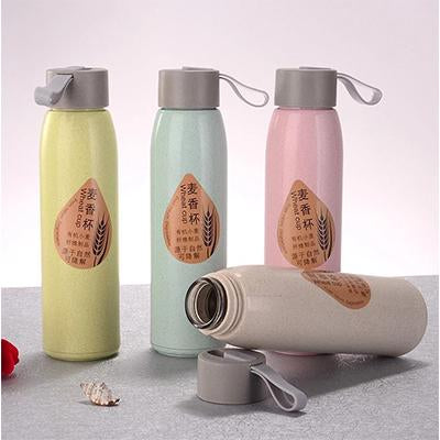 Wheat Straw Eco Glass Bottle | Executive Corporate Gifts Singapore