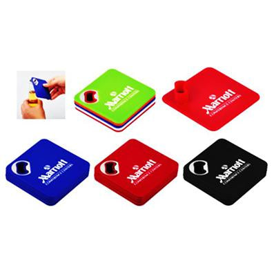 4pcs Coaster Set with Bottle Opener | Executive Door Gifts