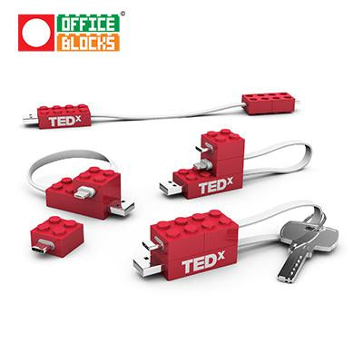 Office Blocks Mobile Charging Cable Set | Executive Corporate Gifts Singapore