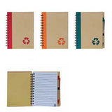 Eco-Friendly Recycled logo Cover Notepad with Pen | Executive Corporate Gifts Singapore