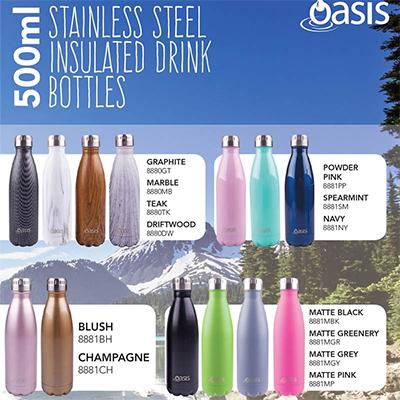 Oasis Stainless Steel Insulated Drinking Bottle | Executive Door Gifts