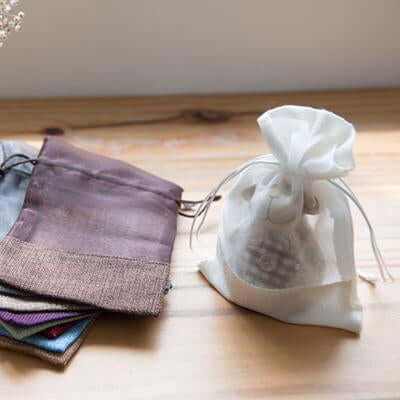 Eco Friendly Jute Accessories Pouch with Netting | Executive Door Gifts