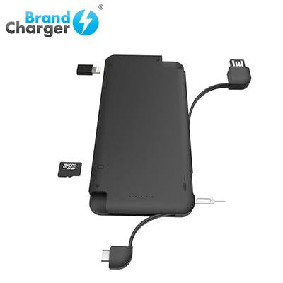 BrandCharger iQ+ Powerbank with Syncing Cable, Card Reader and Portable Data Storage | Executive Corporate Gifts Singapore