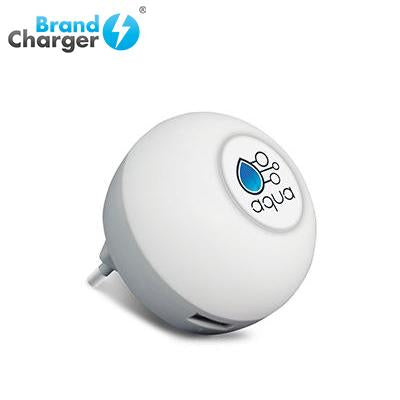 BrandCharger Glow2 Wall Plug USB Charger with Night light | Executive Door Gifts