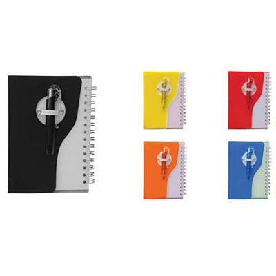 Plastic Cover Notebook with Promotion Pen | Executive Corporate Gifts Singapore
