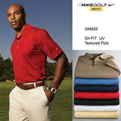 Nike Golf Tech Men Basic Dri-FIT UV Textured Polo Shirt | Executive Corporate Gifts Singapore