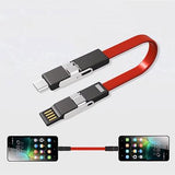 4 in 1 Magnetic Keychain USB Charging Cable - abrandz