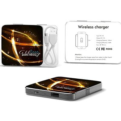 Wireless Charger with Metallic Plating | Executive Corporate Gifts Singapore