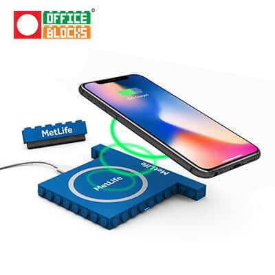 Office Blocks Wireless Charger 3 in 1 | Executive Corporate Gifts Singapore