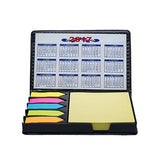 Notepad, Post-it flag with Calendar Memo Holder