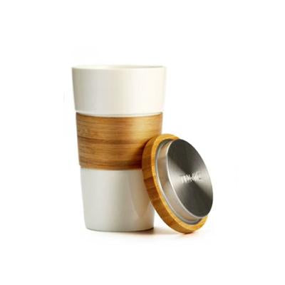 Eco Friendly Ceramic Mug with Bamboo Lid and Sleeve | Executive Corporate Gifts Singapore