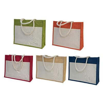 Eco-Friendly A3 Jute Bag with Pocket | Executive Corporate Gifts Singapore