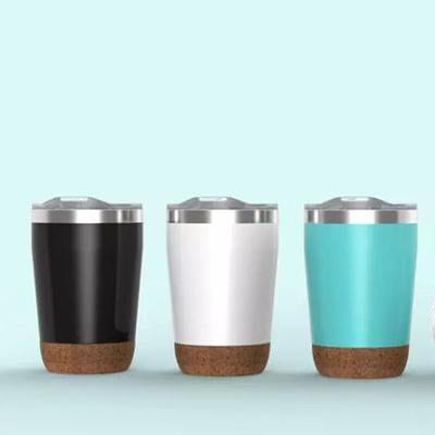 12oz Stainless Steel Vacuum Mug With Cork Base | Executive Corporate Gifts Singapore