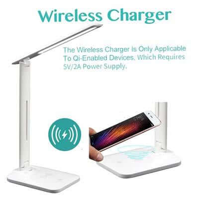 LED Desk Lamp with Wireless Charger | Executive Door Gifts