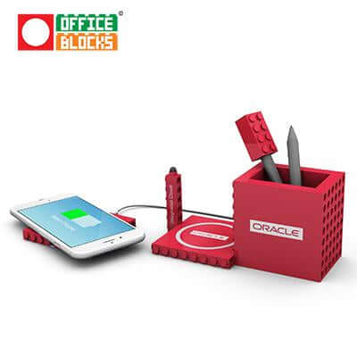 Office Blocks Wireless Charger 4 in 1 | Executive Corporate Gifts Singapore