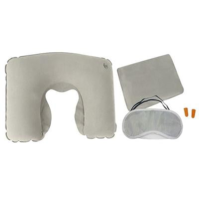 Travel Inflatable Neck Pillow, Eye Mask, Ear Plug, Pouch Set | Executive Corporate Gifts Singapore