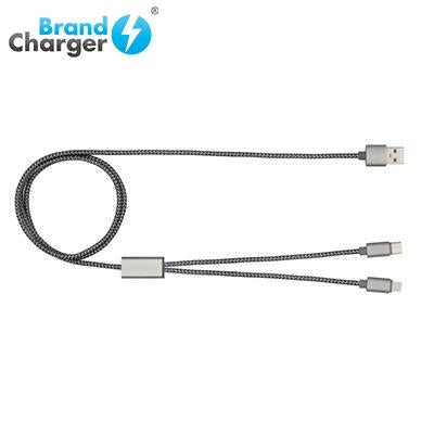 BrandCharger Trident Plus Aluminium Charging Cable | Executive Door Gifts