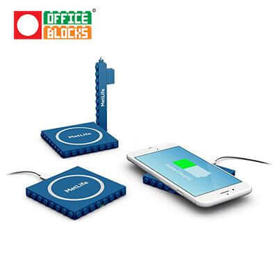 Office Blocks Wireless Charger 2 in 1 | Executive Door Gifts