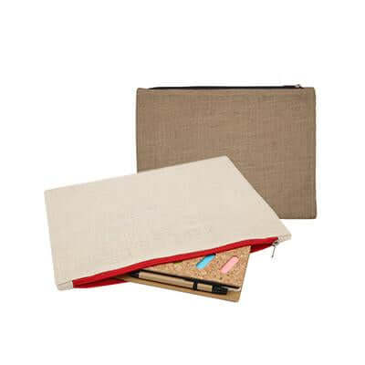 Eco Friendly Jute and Canvas Pouch | Executive Corporate Gifts Singapore