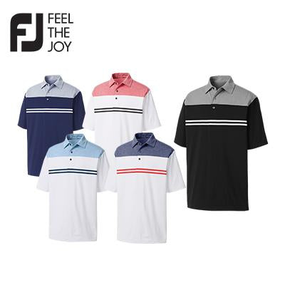 Footjoy Heather Color Block Lisle Polo T-Shirt