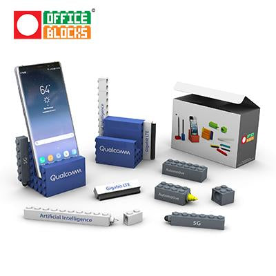 Office Blocks 5 in 1 Stationery Phone Stand Set | Executive Corporate Gifts Singapore