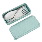 Compact Foldable Wheat Straw Cutlery Set | Executive Door Gifts