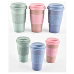 Eco Friendly Wheat Straw and Silicone Coffee Cup - abrandz