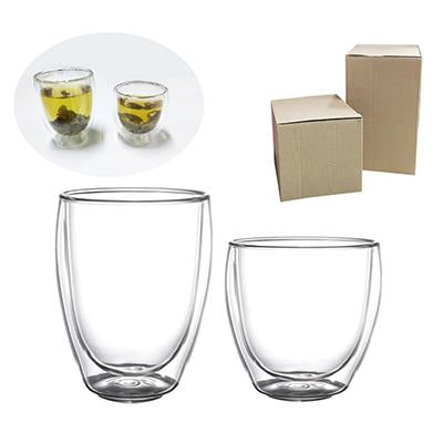 Double Wall Glass with kraft paper box packaging | Executive Corporate Gifts Singapore