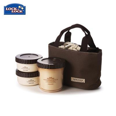 Lock & Lock 3 Pieces Rounded Lunch Box Set | Executive Corporate Gifts Singapore
