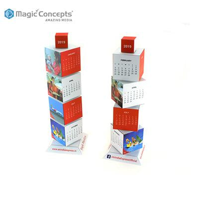 Magic Concepts Magic Revolving Tower Calendar | Executive Corporate Gifts Singapore