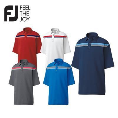 Footjoy Lisle Engineered Chestband Polo T-Shirt