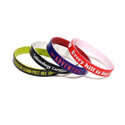Custom Colour Coated Silicone Wristband | Executive Corporate Gifts Singapore