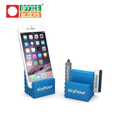Office Blocks 3 in 1 Phone Stand Mobile Set | Executive Corporate Gifts Singapore