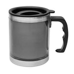 Classic Stainless Steel Mug with handle and Lid | Executive Corporate Gifts Singapore