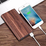 Woodgrain Qi Wireless power bank charger | Executive Corporate Gifts Singapore