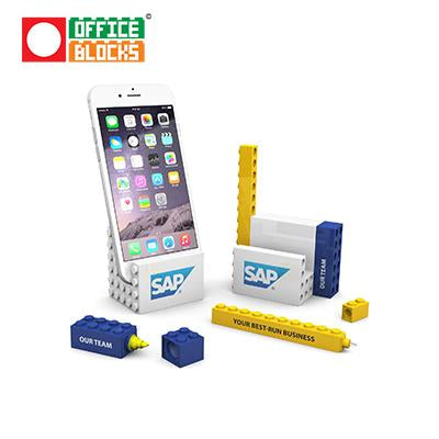 Office Blocks 3 in 1 Stationery Phone Stand Set | Executive Corporate Gifts Singapore