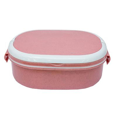 Oval Wheat Fiber Lunch Box with spoon | Executive Corporate Gifts Singapore