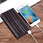 Woodgrain Qi Wireless power bank charger