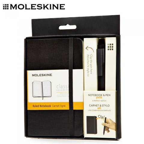MOLESKINE A6 Notebook with Roller Pen Set | Executive Door Gifts