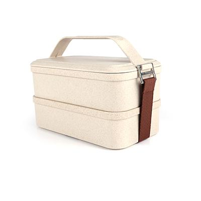 Husk Fiber 2 Tier Lunch Box | Executive Corporate Gifts Singapore