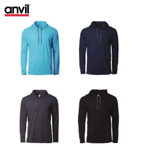Anvil 987 Hooded Long Sleeve T-Shirt | Executive Door Gifts